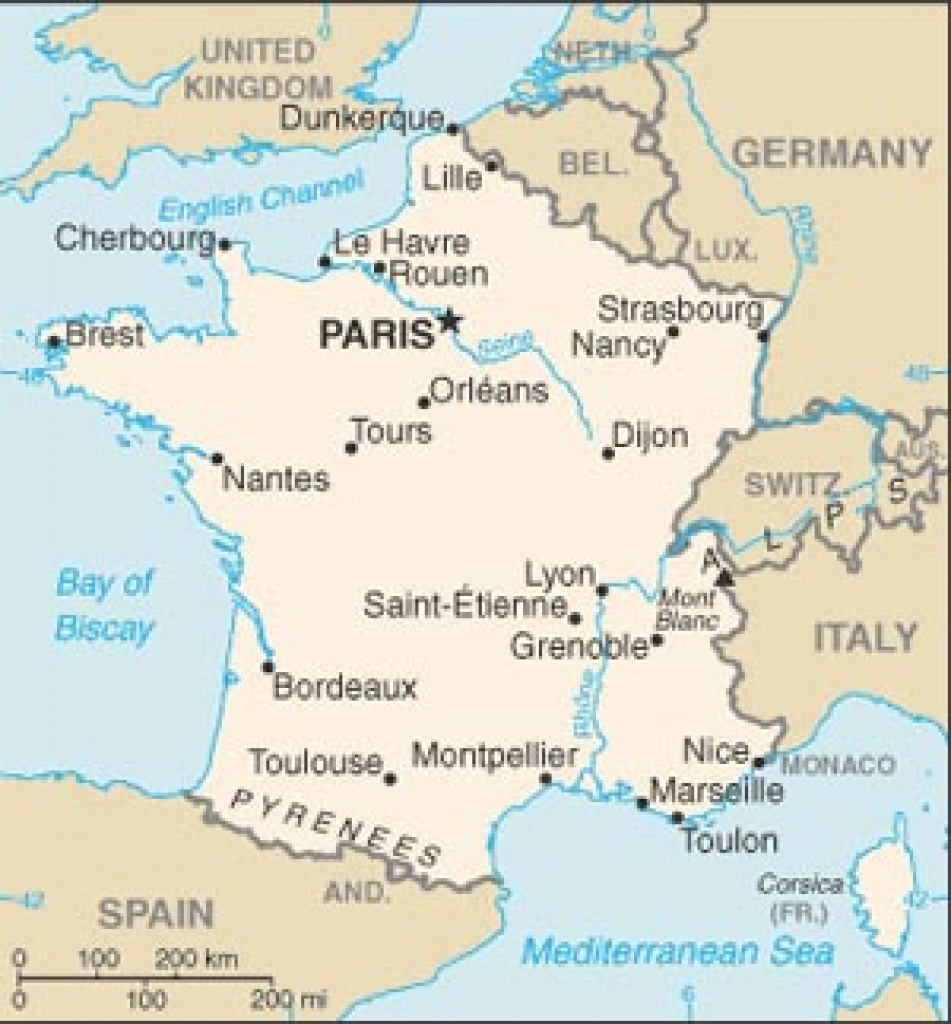 France Country Page within France States Map