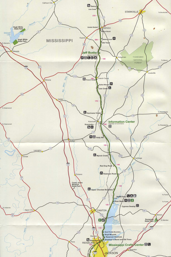 Free Download Mississippi National Park Maps within Mississippi State Parks Map