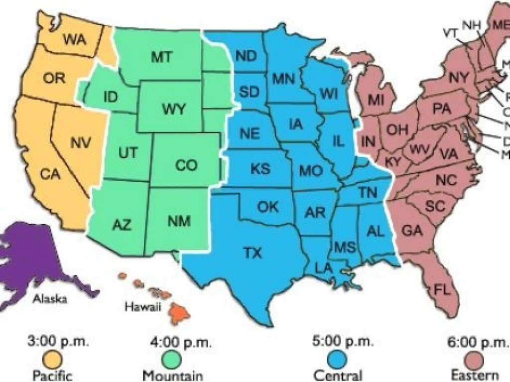 Free Printable Time Zone Map Of Usa Zones United States 471 X 353 regarding Map Of Time Zones In United States