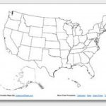 Free Printable United States Map Collection Outline Maps. With Or Regarding 50 States Map Worksheet