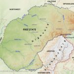 Free State Map   South Africa In Free State Map