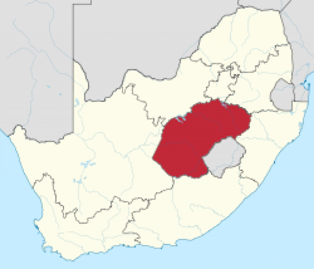 Free State (Province) - Wikipedia for Free State Map