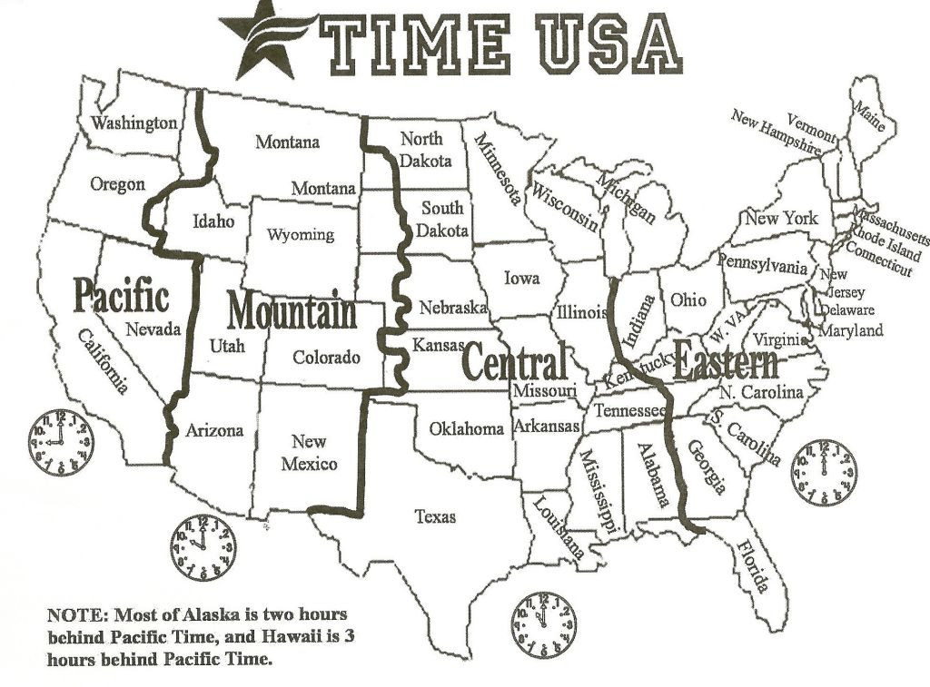Free Time Zone Map Usa Printable Black And White Beautiful United within State Time Zone Map