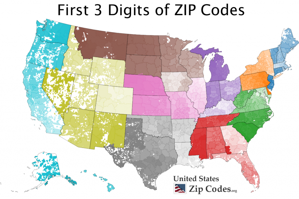 Free Zip Code Map, Zip Code Lookup, And Zip Code List in United States Map With County Names