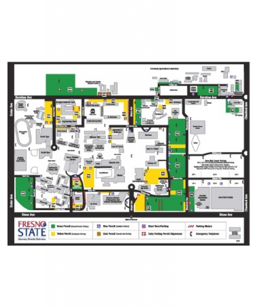 Fresno State Campus Map Pdf - Free Download (Printable) pertaining to Fresno State Map Pdf