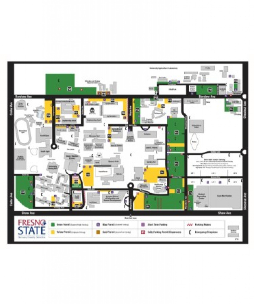 Fresno State Map Pdf - Free Download (Printable) regarding Fresno State Map Pdf