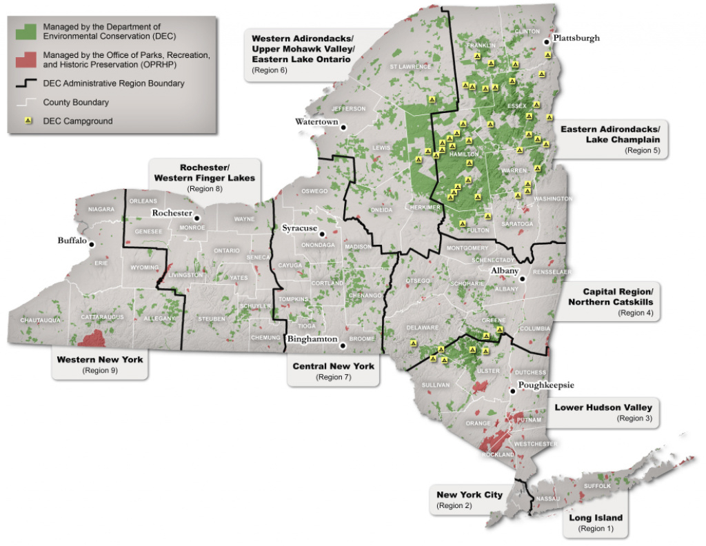 Full List Of State Lands You Can Visit - Nys Dept. Of Environmental with New York State Tourism Map