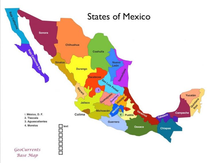 Map Of Mexico And Its States