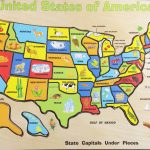 Fun Solving The United States Map Wood Puzzle | Melissa & Doug Usa Intended For United States Features Map Puzzle