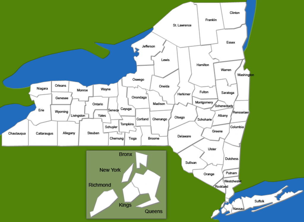 Funding Map - Office Of Program Development And Funding - Ny Dcjs in New York State Map Pdf