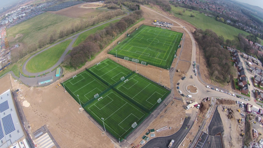 Gallery: The Middlesbrough Sports Village And Velodrome From The Air inside State Farm Sports Village Field Map