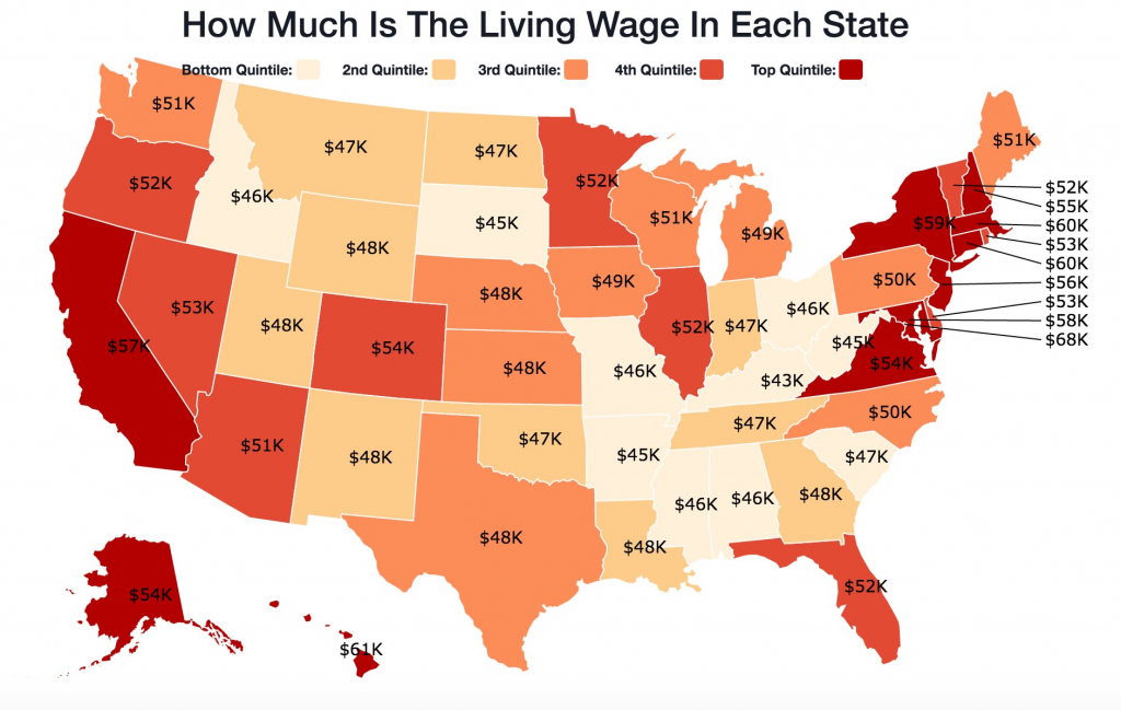 Gas Prices Across The Us Map Us Mapcost Of Living Gas Price Heat regarding Gas Prices Per State Map