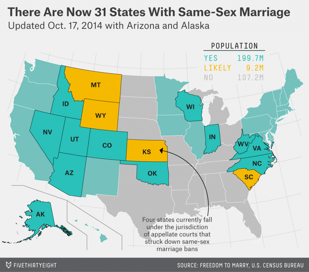 Gay Marriage Is Now Legal In 31 States And For Almost 200 Million with regard to Gay Marriage By State Map 2014