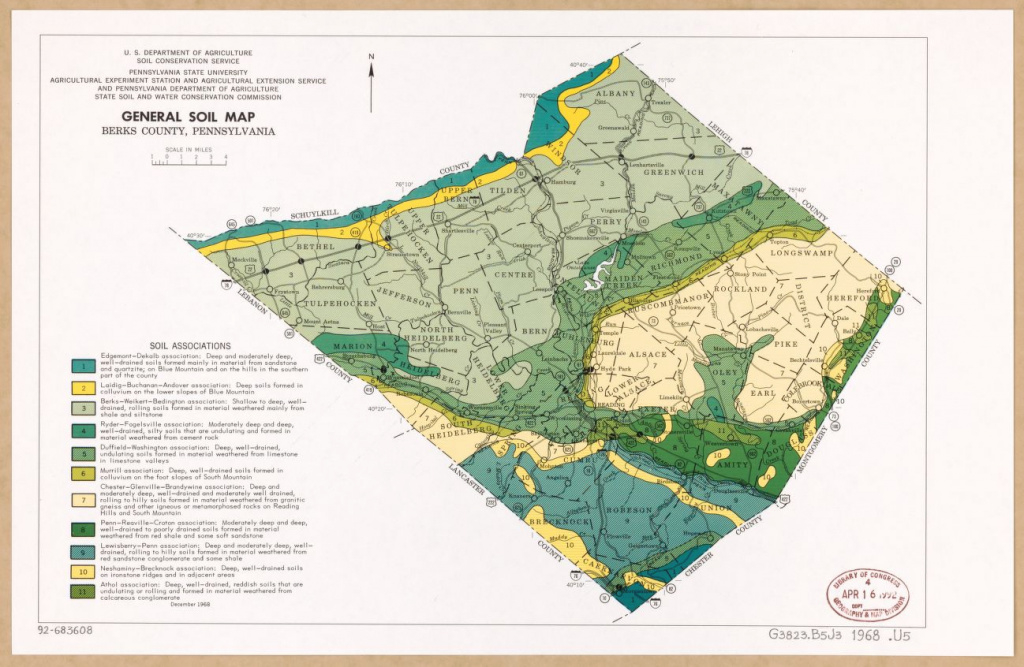 General Soil Map, Berks County, Pennsylvania | Library Of Congress with Penn State Soil Map