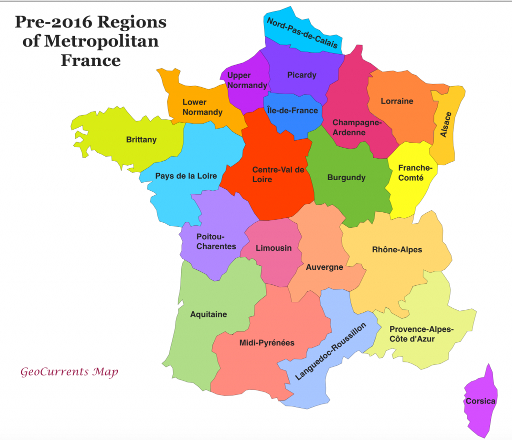 Geocurrents Maps Of Administrative Divisions Within States | Geocurrents regarding France States Map