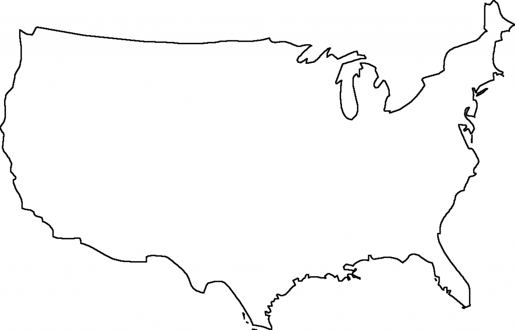 Geography Blog Outline Maps United States - Blank Map Of The inside Map Of United States Outline Printable