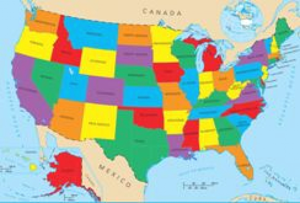 Geography For Kids: United States intended for United States Map Kid Friendly