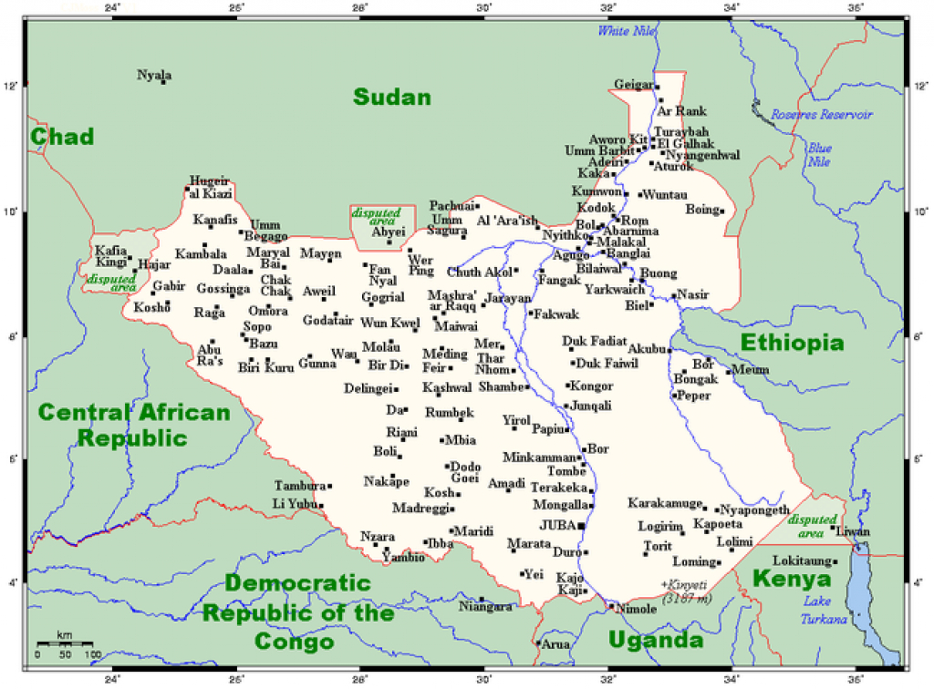 Geography Of South Sudan - Wikipedia within Map Of South Sudan States And Counties