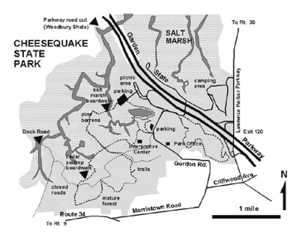 Geology Of National Parks regarding Cheesequake State Park Trail Map