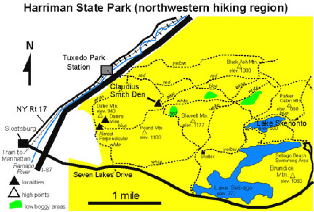 Geology Of National Parks throughout Harriman State Park Trail Map