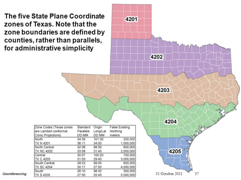 Georeferencing Introduction To Geospatial Information Science Cheng with Texas State Plane Coordinate Map