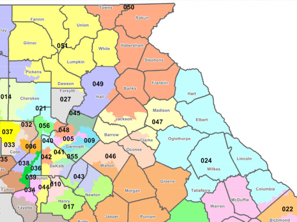 Georgia Senate Districts In 9Th inside Georgia State Senate District Map