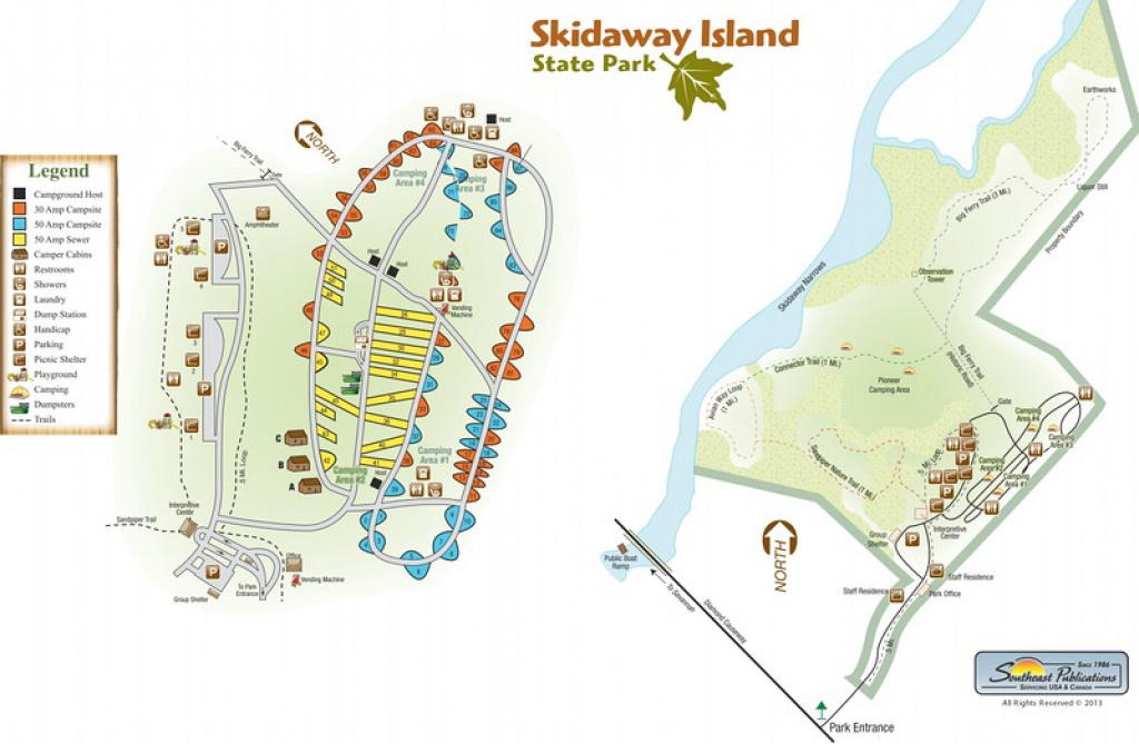 Georgia State Park Maps - Dwhike with Skidaway Island State Park Trail Map