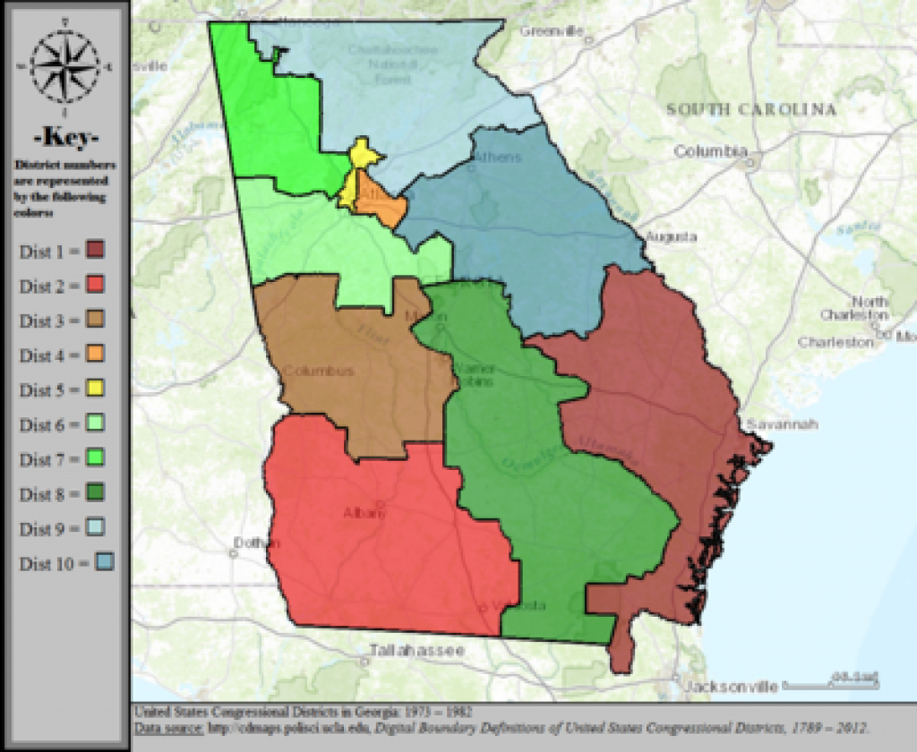 Georgia's Congressional Districts - Wikipedia pertaining to Georgia State Senate District Map