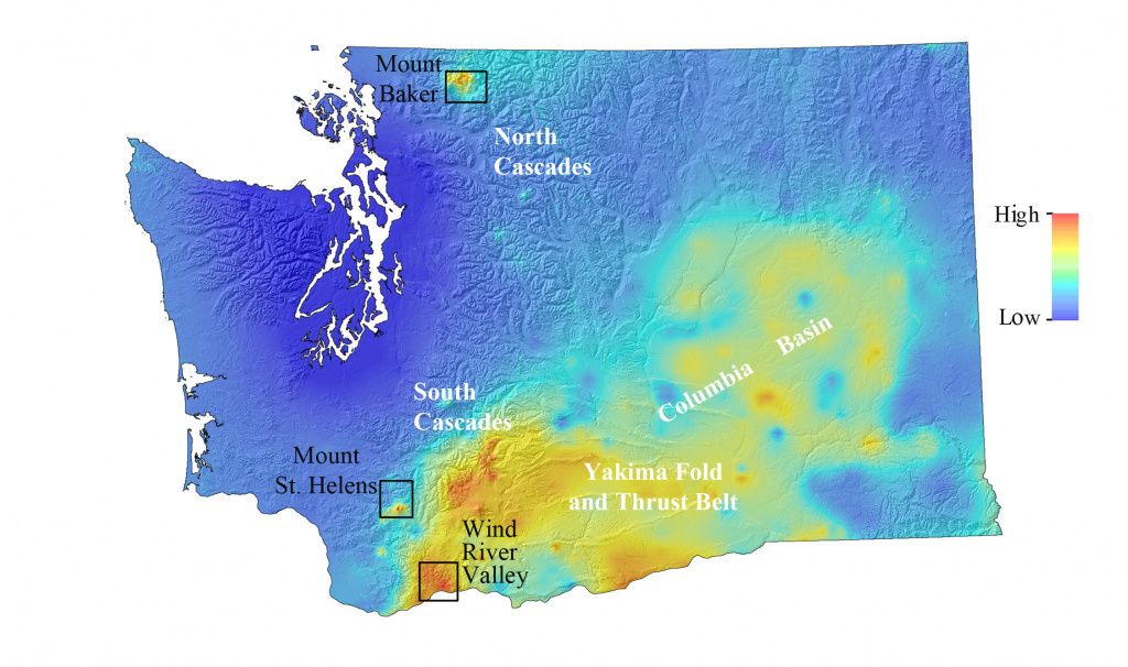 Geothermal Favorability Map For Washington State, Us | Think for Washington State Landslide Map