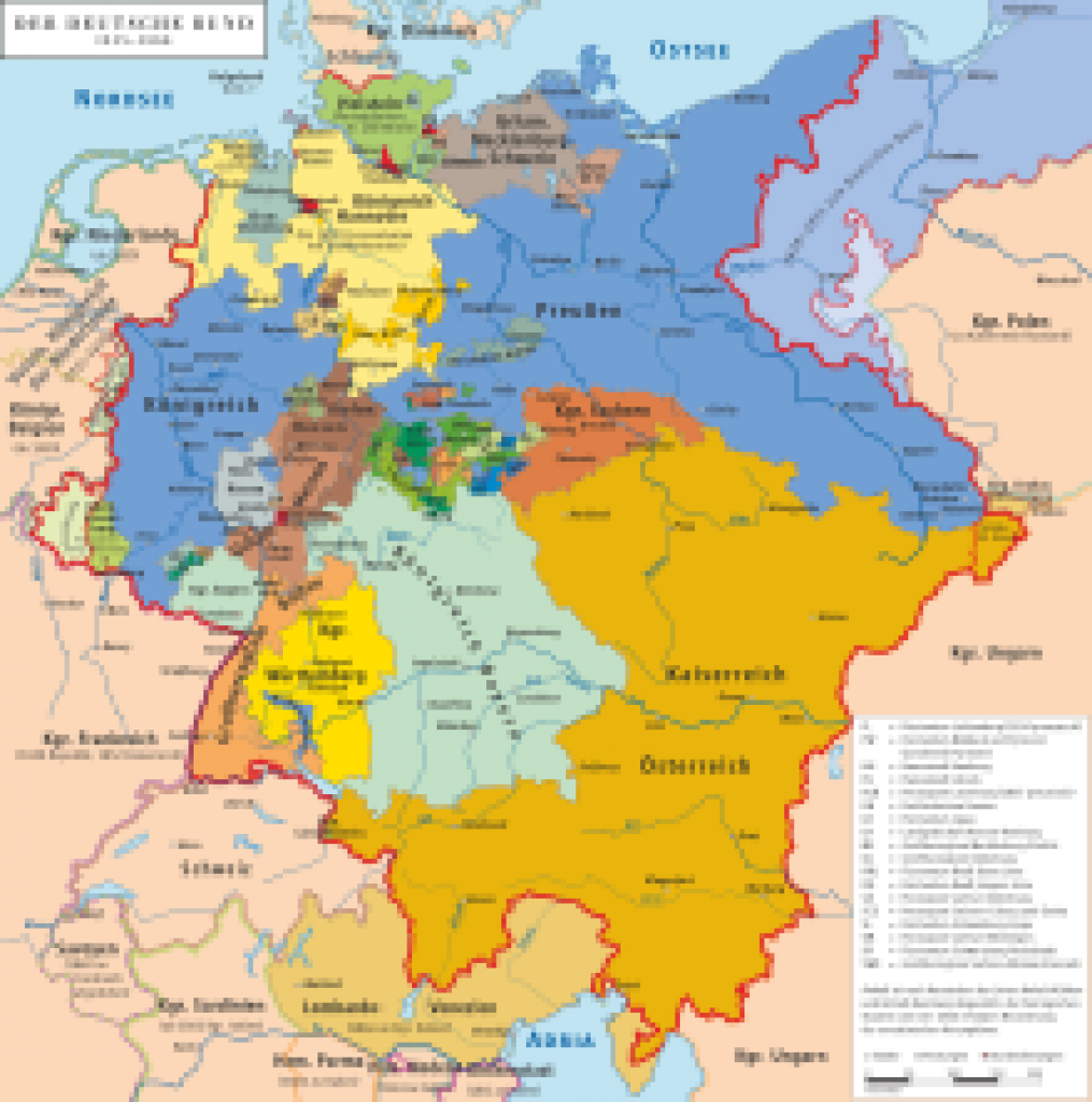 German Confederation - Wikipedia within German States Map 1850