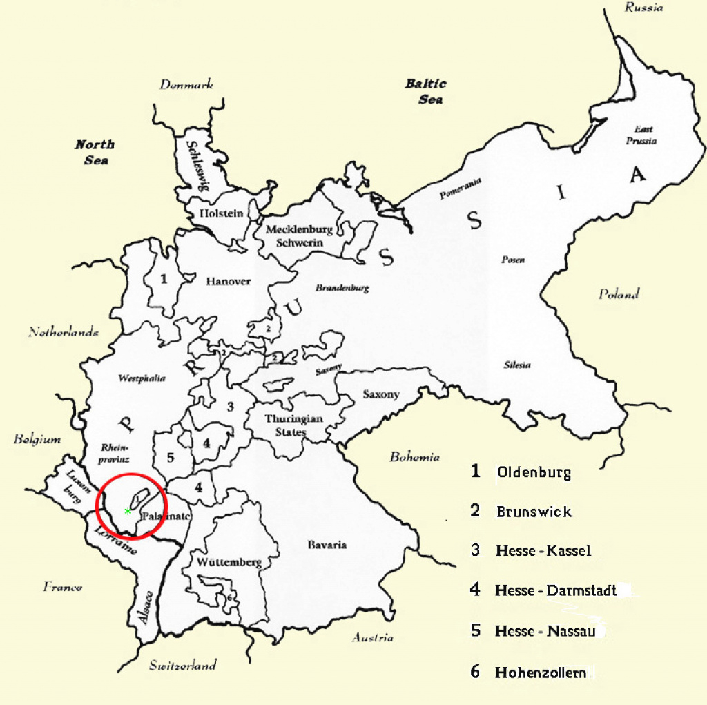 Germany In 1850 for German States Map 1850