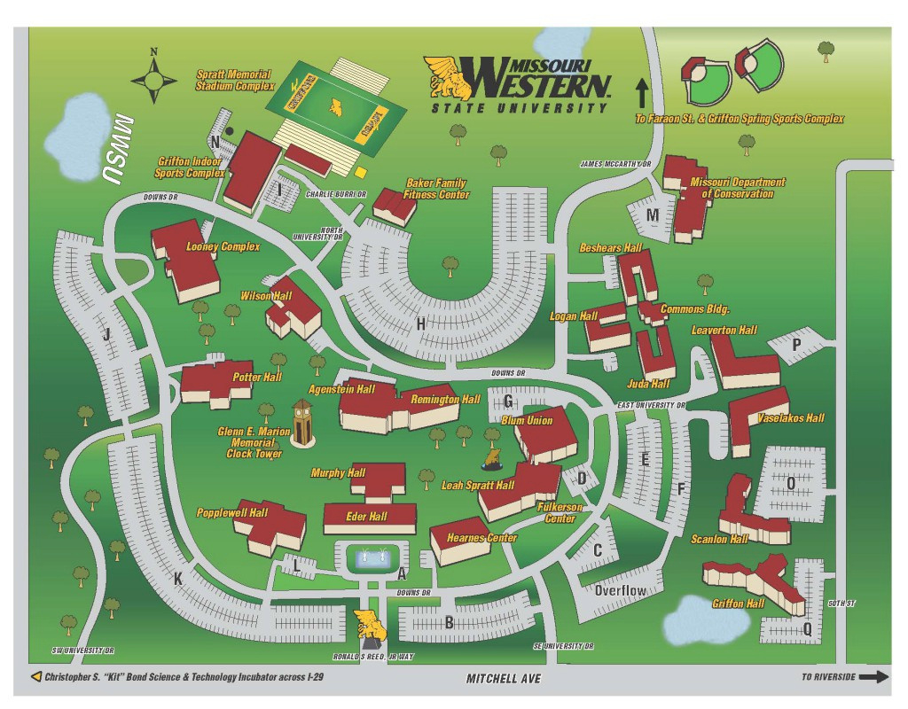 Getting To Campus – Griffon Orientation with Dixie State University Campus Map