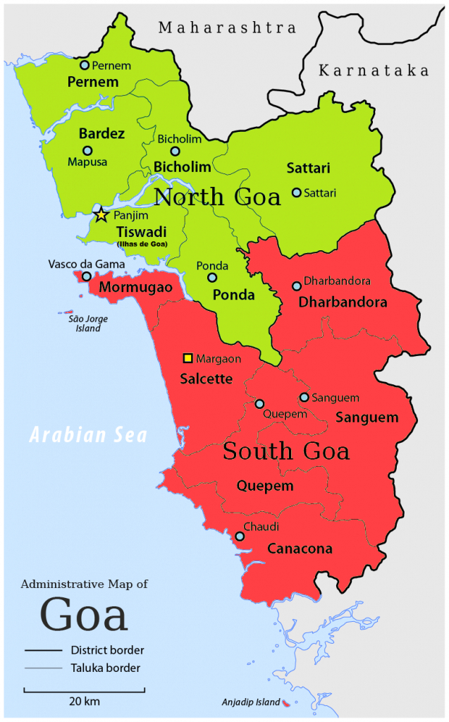 Goa - Wikipedia in States Of India Map Game