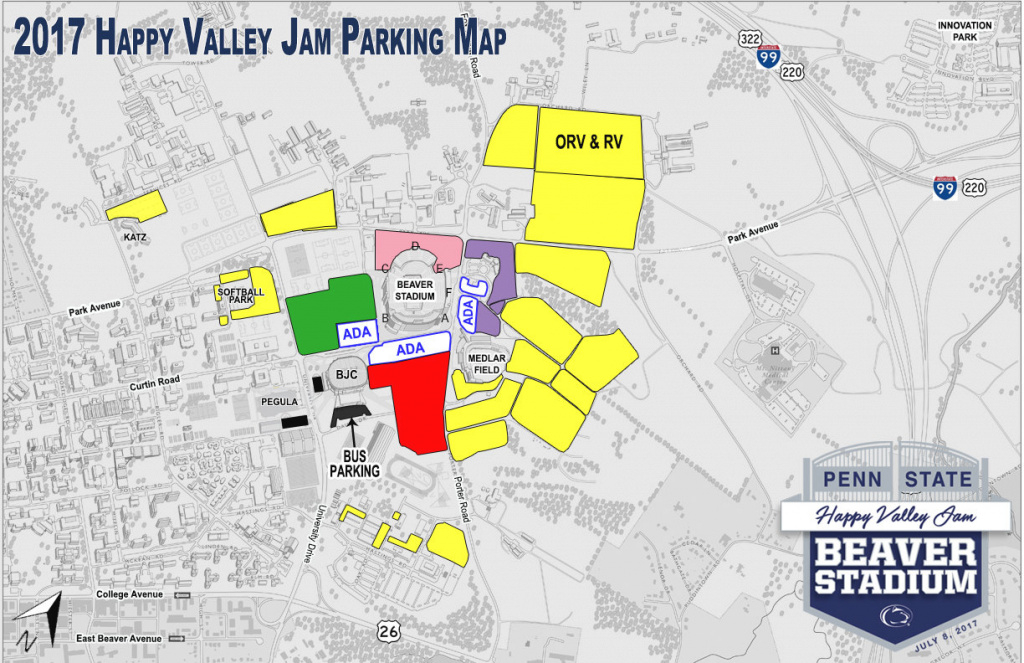 Going To Happy Valley Jam? Penn State Releases Parking Details inside Penn State Stadium Parking Map