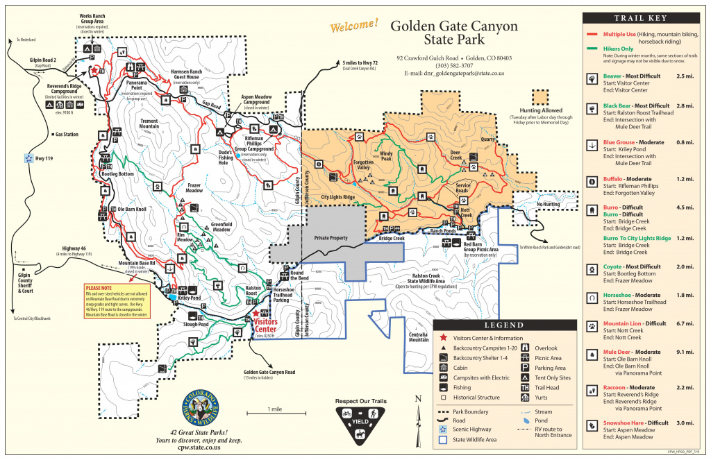 Golden Gate Canyon State Park | Outthere Colorado within Colorado State Parks Map