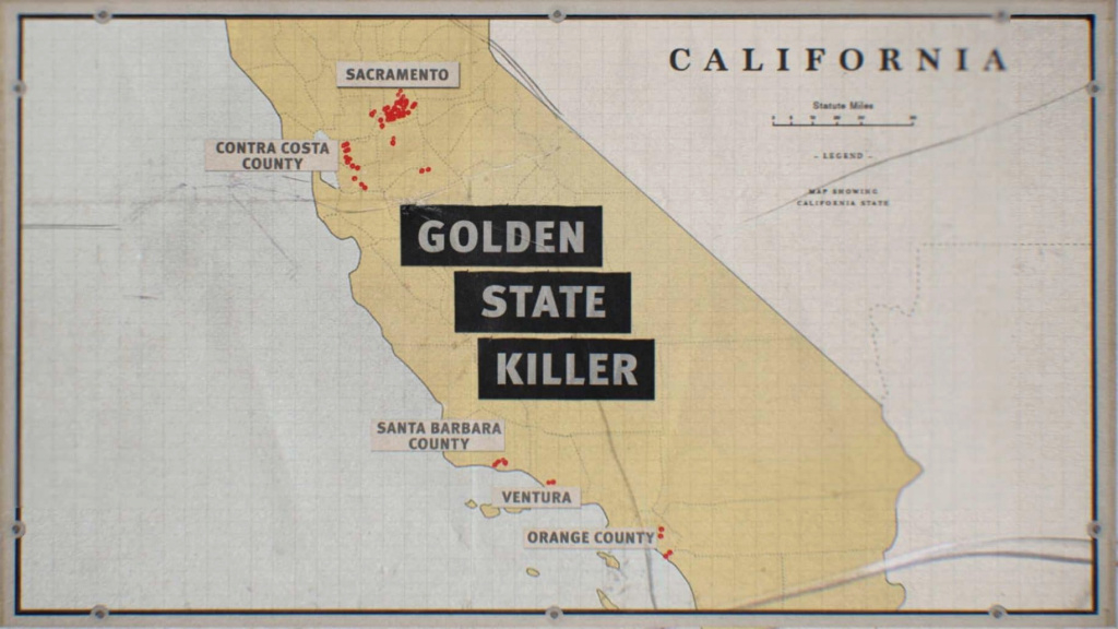 Golden State Killer's Chilling Methods Profiled On Hln's Unmasking A pertaining to Golden State Killer Map