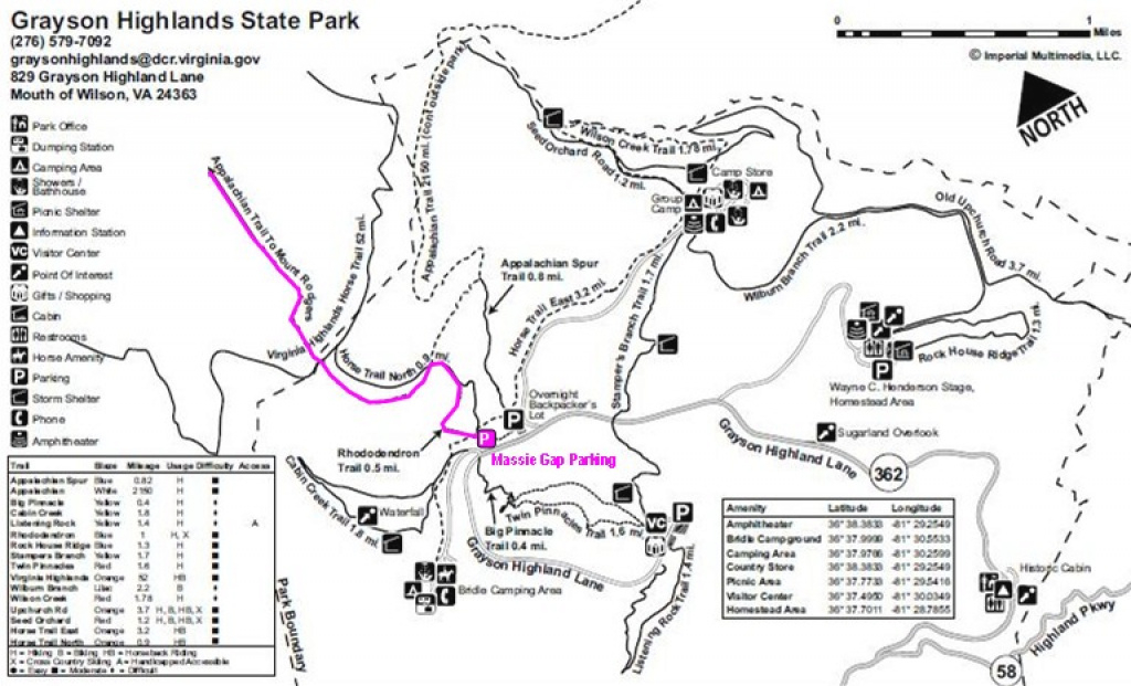 Gone Hikin': Grayson Highlands State Park And Mount Rogers (Mouth Of with Hungry Mother State Park Trail Map