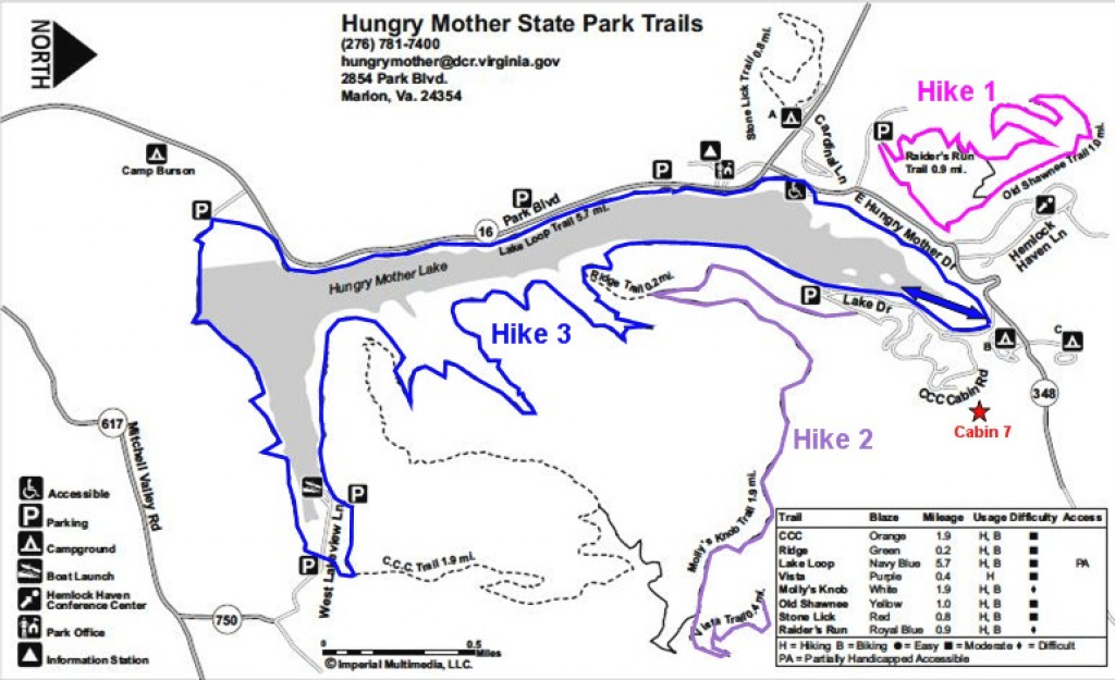 Gone Hikin': Hungry Mother State Park (Marion, Va) with regard to Hungry Mother State Park Trail Map