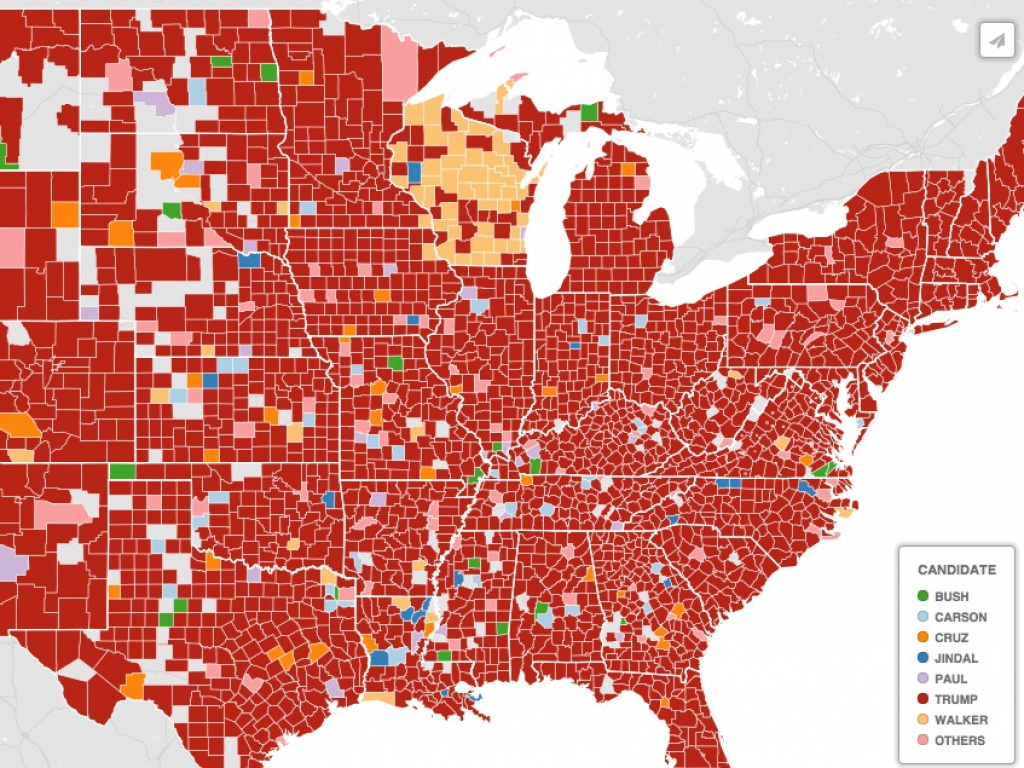 Google Search Map: Donald Trump Dominates Interest - Business Insider with Trump Support By State Map