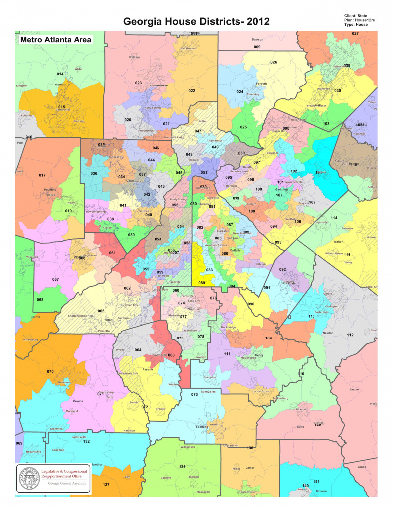Government - Georgia House Districts Metro Atlanta General Assembly with regard to Georgia State Senate District Map