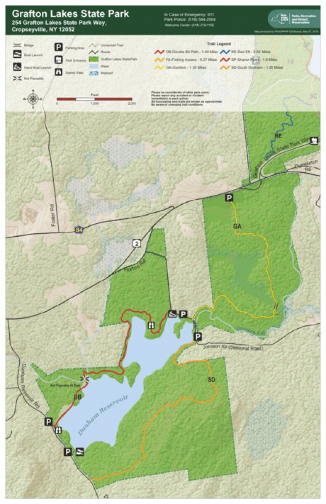 Grafton Lakes State Park Trail Map South - New York State Parks with regard to Green Lakes State Park Trail Map