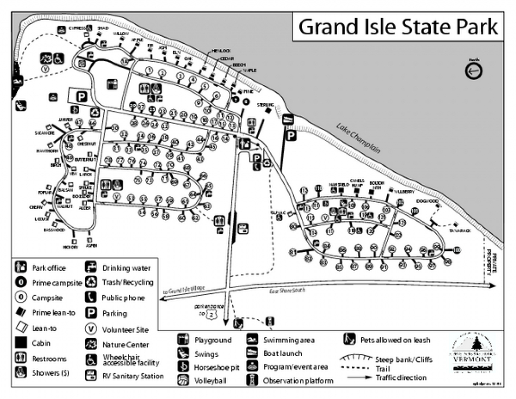 Grand Isle State Park Campground Map - Grand Isle Vermont 05458 with regard to Vt State Park Map