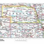 Great Map Of Nebraska And . Adjoining State Lines | Road Maps Of The For State Lines Map