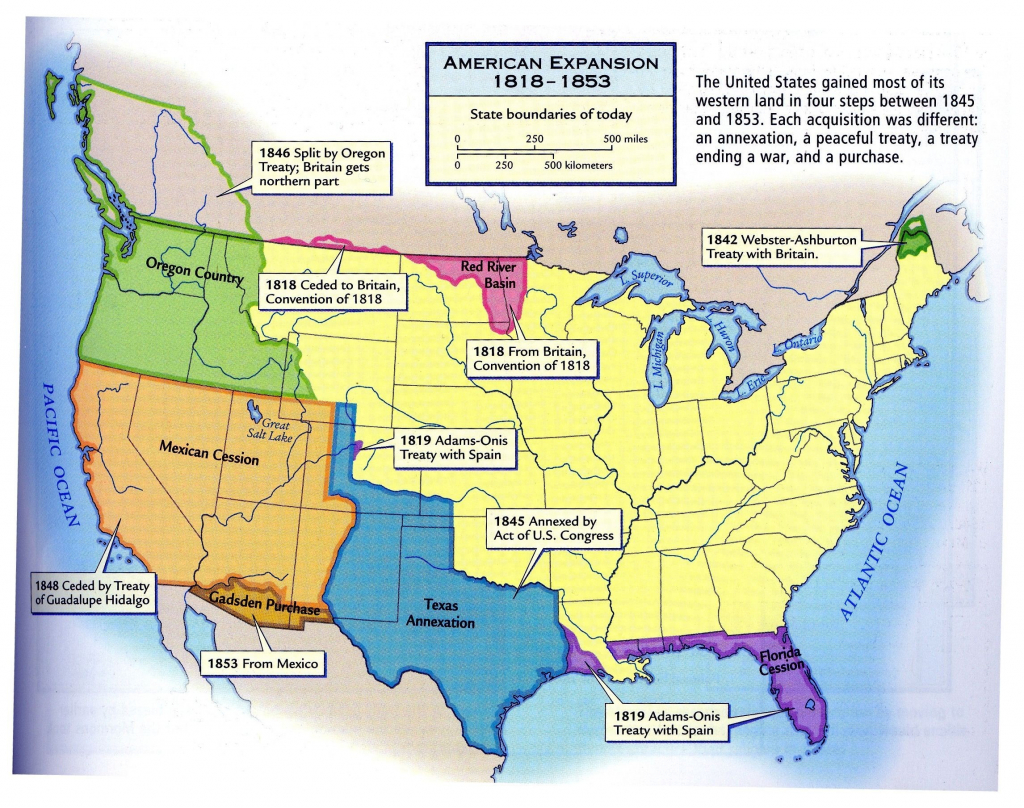 Growth Of The United States To 1853 Map Fresh Us Territorial for Growth Of The United States To 1853 Map