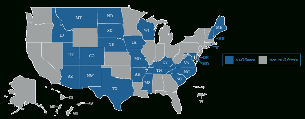 Guide To Nursing Compact States | Rivier University Online with regard to Compact State Nursing Map