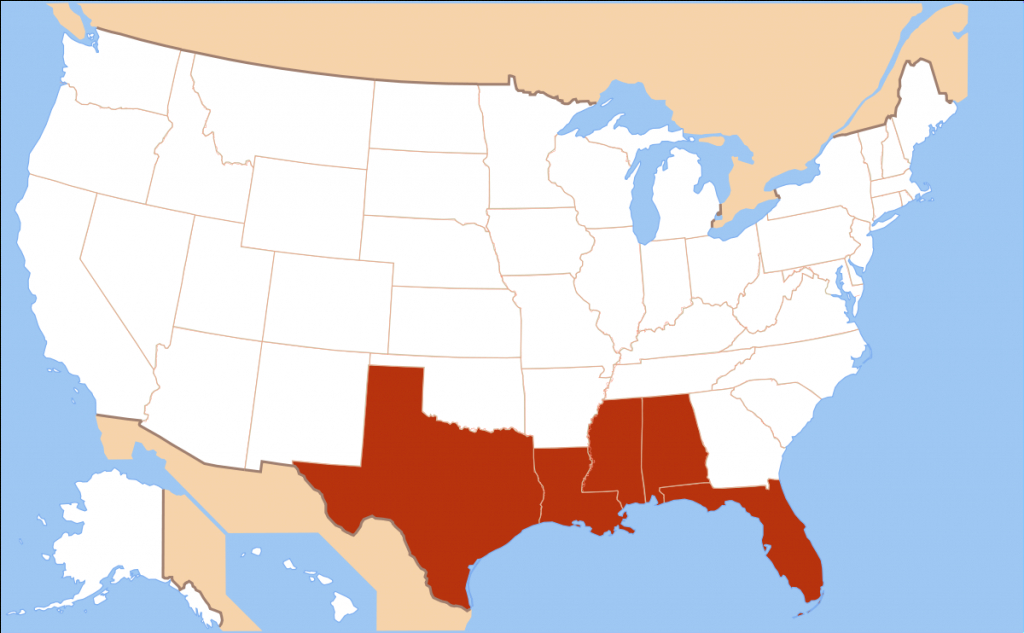 Gulf Coast Of The United States - Wikipedia pertaining to What States I Ve Been To Map