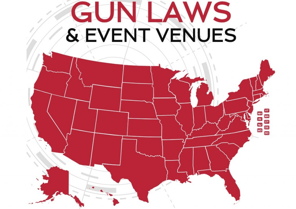 Gun Laws & Event Venues Interactive State-By-State Map throughout Gun Control Laws State Map