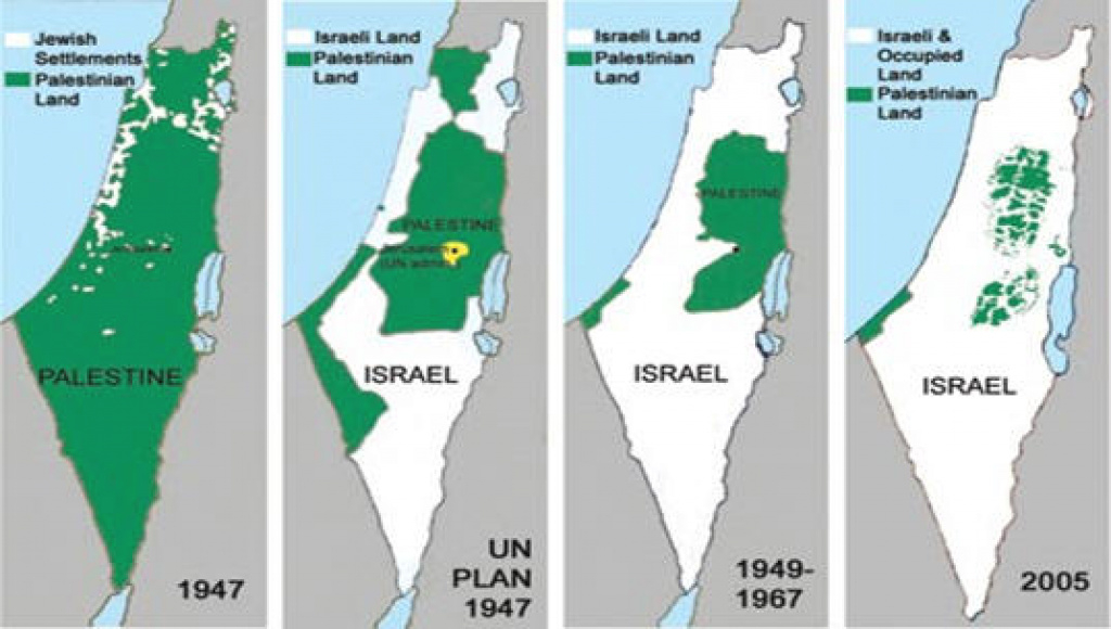 Hamas New Charter Accepts The Two-State Solution For Palestinian for Palestine Two State Solution Map