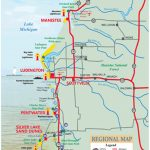Hamlin Lake   West Michigan Maps & Destinations Inside Ludington State Park Trail Map