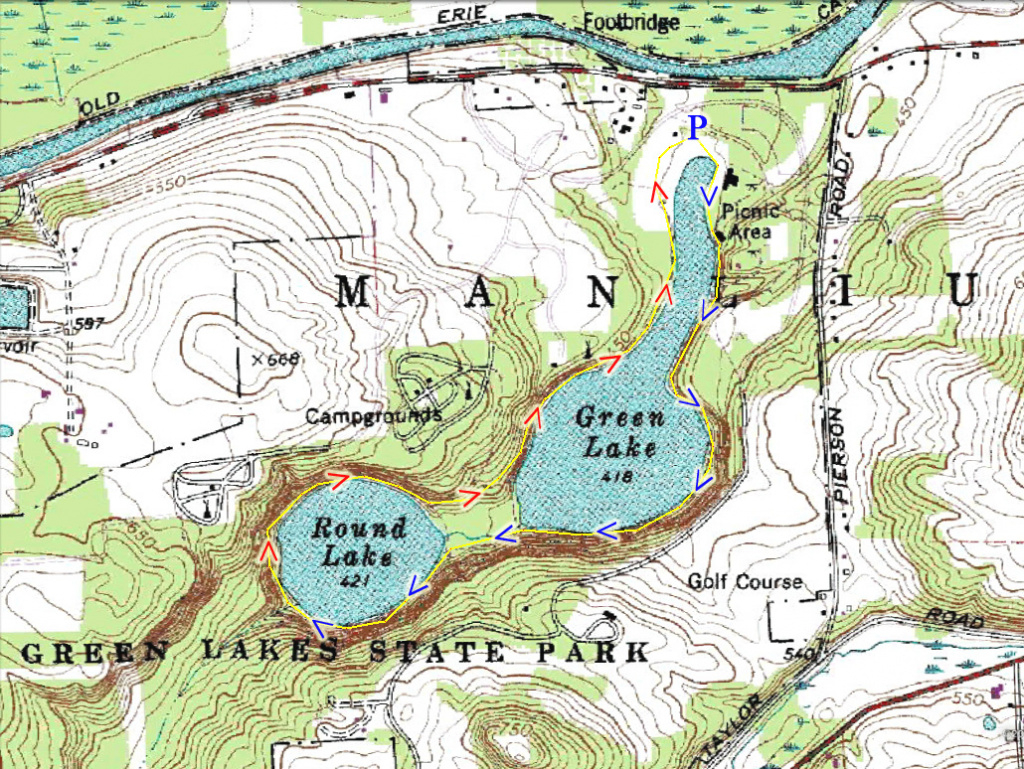 Harriman Hiker: Harriman State Park And Beyond: Green Lakes State Park with Green Lakes State Park Trail Map